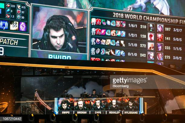 Members of team Fnatic compete during the League of Legends World Championship Finals hosted by Riot Games Inc in Incheon South Korea on Saturday Nov...