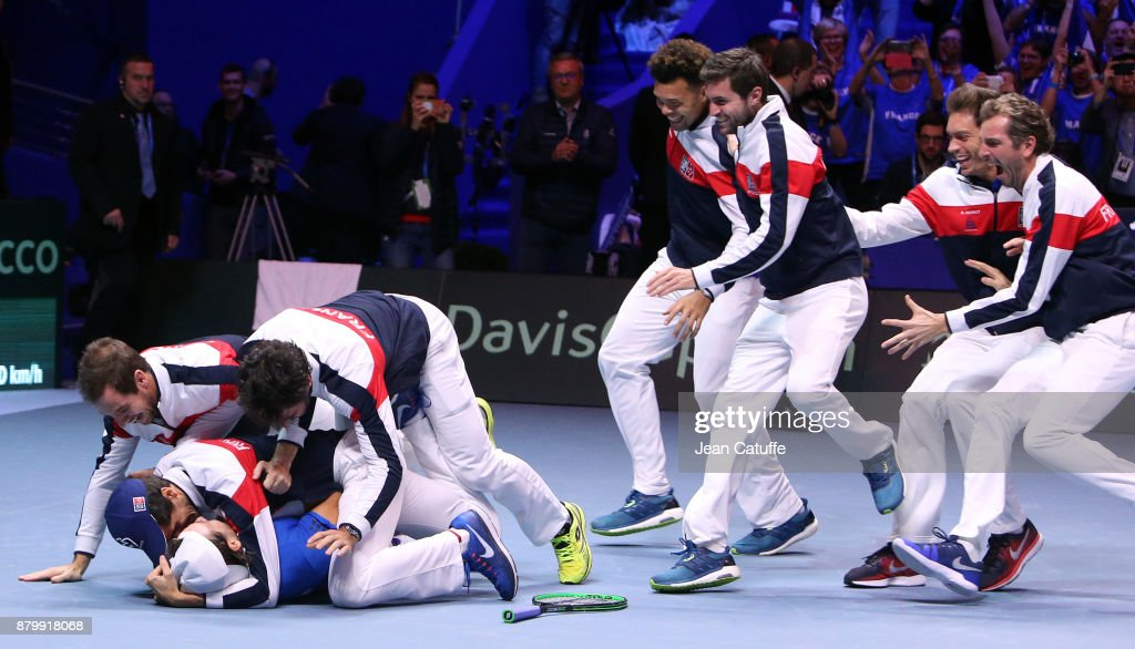Davis Cup World Group Final - France v Belgium - Day Three : News Photo