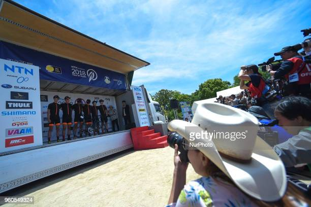 Members of Team Illuminate during a Team Presentation ahead of the opening stage 26km Individual Time Trial in Daisen Park Sakai On Sunday May 20 in...