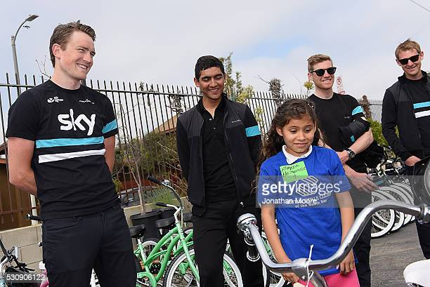 Members of Team Sky Andy Fenn, Alex Peters and Lars Petter Nordhaug met with kids from the Boys & Girls Club of South Bay to get them excited about...