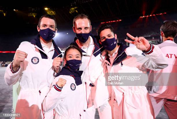 Members of Team United States during the Closing Ceremony of the Tokyo 2020 Olympic Games at Olympic Stadium on August 08, 2021 in Tokyo, Japan.