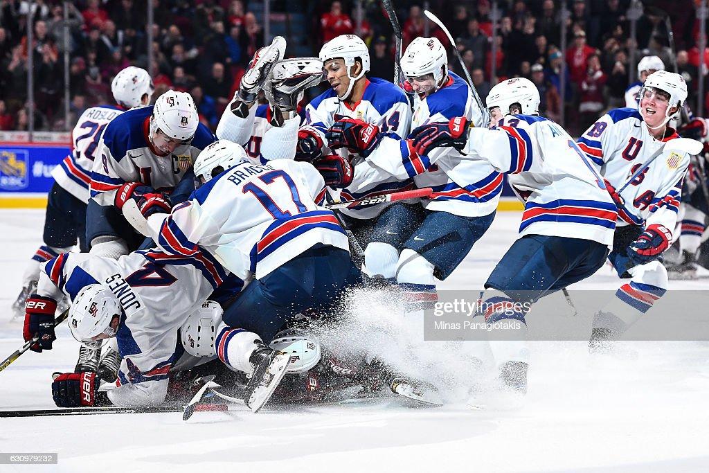 Team Unites States v Team Russia - Semifinal - 2017 IIHF World Junior Championship : News Photo