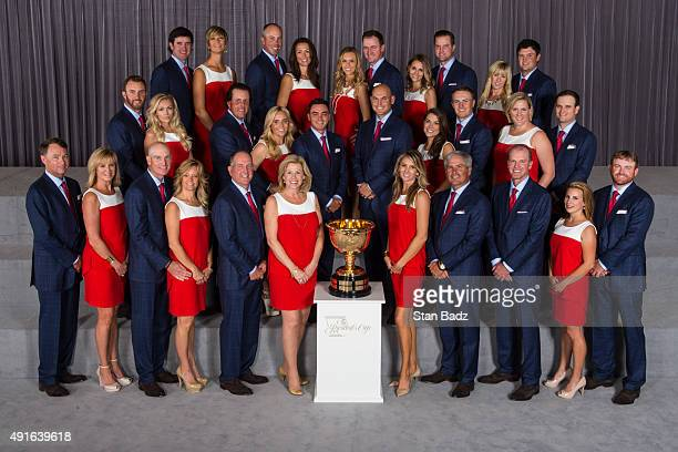 Members of Team USA and their wives and girlfriends Bubba and Angie Watson Matt and Sybi Kuchar Erin and Jimmy Walker Tahnee and Chris Kirk Justine...