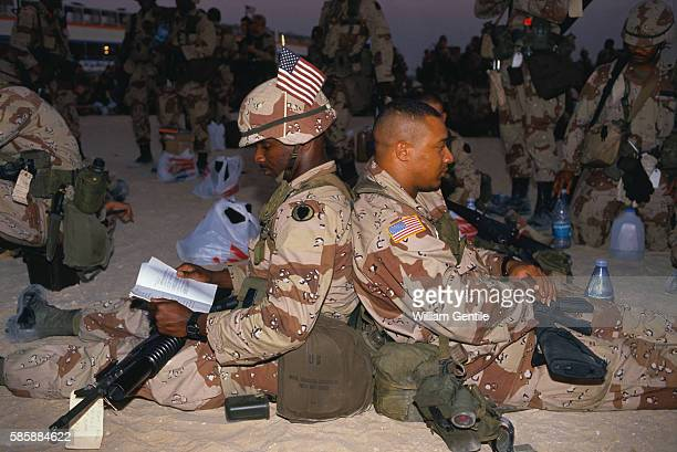 Members of the 101st Airborne Division Relaxing in Iraq