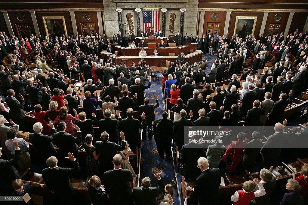 110th U.S. Congress Is Sworn In : News Photo