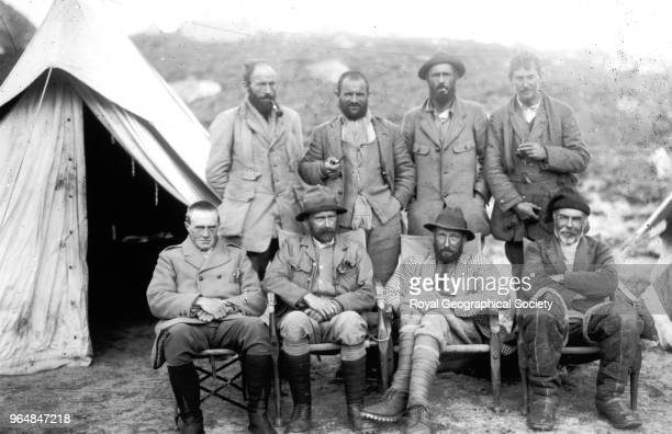 Members of the 1921 Everst Expedition at camp Members of the 1921 Mount Everest Expedition at 17300 foot camp Back row Bullock Morshead Wheeler...