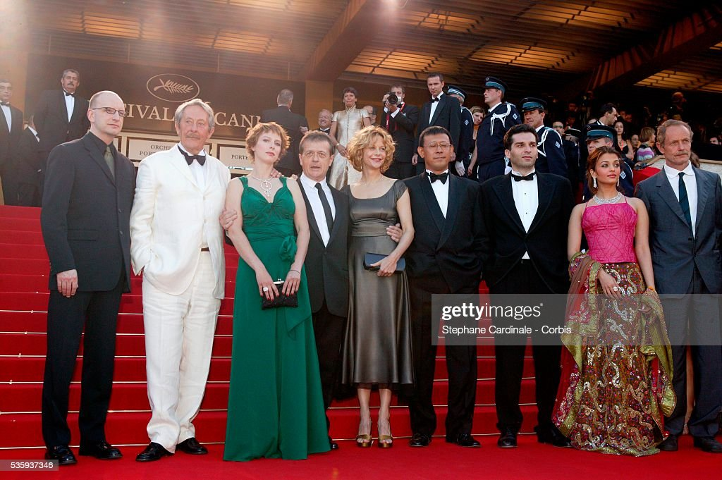 Members of the 2003 Cannes Film Festival Jury Steven Soderbergh Jean Rochefort Karin Viard Patrice Chereau Meg Ryan Wen Jiang Danis Tanovic Aishwarya.