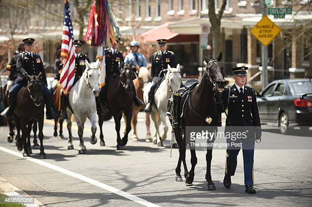 Members of the 3rd United States Infantry Regiment or The Old Guard and others take part in an event to commemorate the 150th anniversary of...