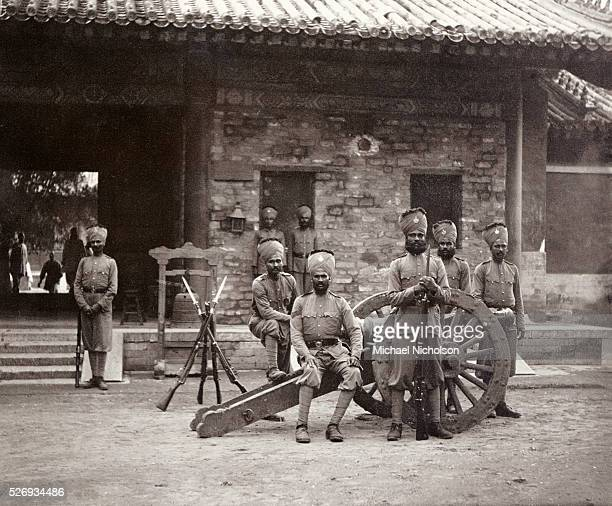 Members of the 7th Rajputs British Indian Army guarding the Temple of Heaven in Beijing during the Boxer Rebellion