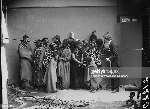 Members of The African Choir at a shoot for a group portrait with their English musical director James Balmer 1891 The choir drawn from seven...
