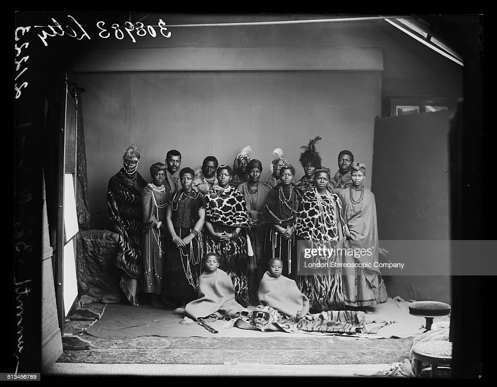 Members of The African Choir pose for a group portrait, 1891. The choir, drawn from seven different South African tribes, toured Britain from 1891 to 1893 to raise funds for a technical college in their home country. Their best known performance was before Queen Victoria at Osborne House, the royal residence on the Isle of Wight, in 1891.