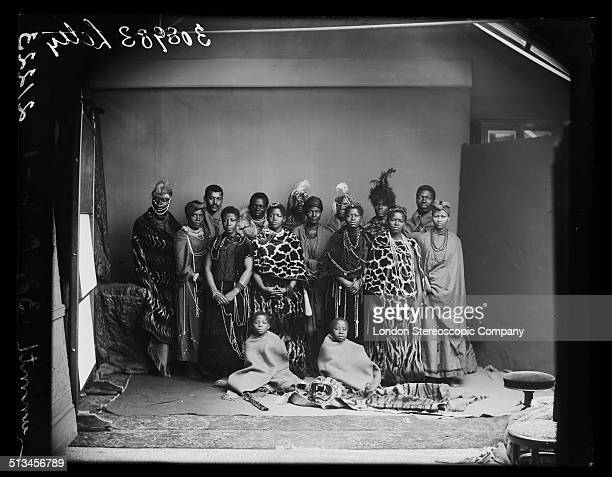 Members of The African Choir pose for a group portrait 1891 The choir drawn from seven different South African tribes toured Britain from 1891 to...