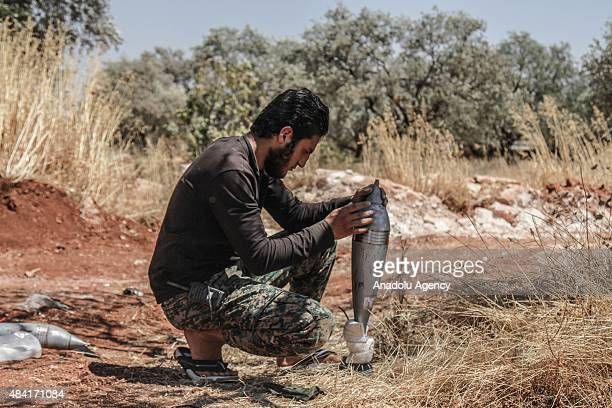 Members of the Ahrar alSham brigade related with Fatah seen before they launch missiles during an operation against Syrian Regime forces deployed in...