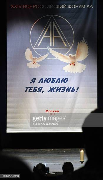 MAXIMOVA Members of the Alcoholics Anonymous selfhelp group take part in a meeting in Moscow on December 1 2012 Twentyfive years after their arrival...