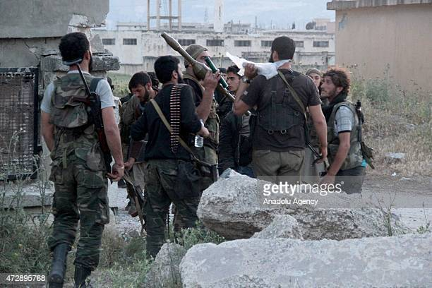 Members of the alFatah Forces prepare to attack Assad regime forces near to the alWatan Hospital in Jisr alShughur District in Idlib Syria on MAy 10...