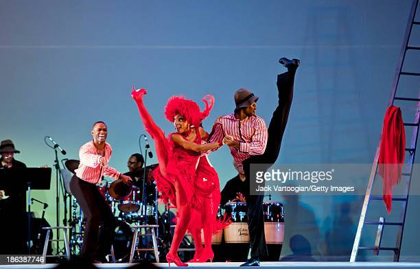Members of the Alvin Ailey American Dance Theater perform Ailey's 1958 classic 'Blues Suite' at Central Park SummerStage New York New York July 23...