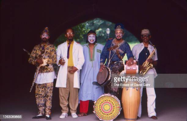 Members of the American avant garde jazz group Art Ensemble of Chicago pose for a portrait on June 27 1980 in New York City New York Art Ensemble of...