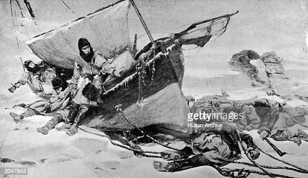 Members of the Arctic expedition led by British explorer Sir John Franklin on their attempt to discover the Northwest Passage The expedition was...