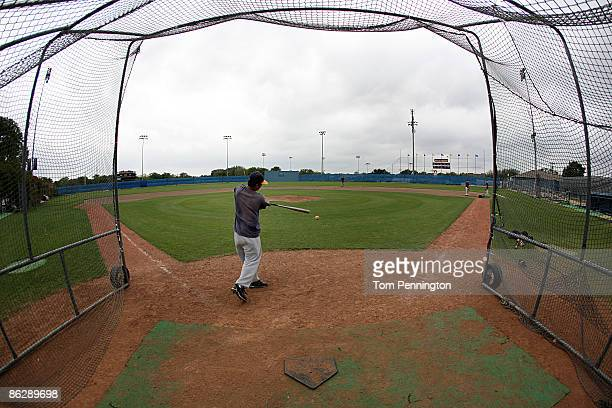 Members of the Arlington Heights High School baseball team participate in a voluntary practice after state University Interscholastic League...