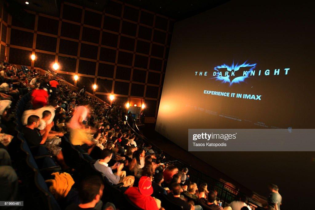 """The Dark Knight"" IMAX Midnight Screening In Chicago : News Photo"