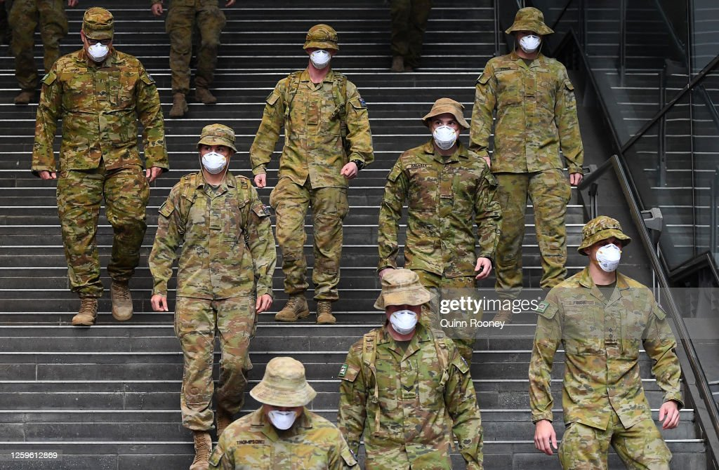 Victorian Records Additional 532 Cases As Australian Death Toll Reaches 161 : ニュース写真