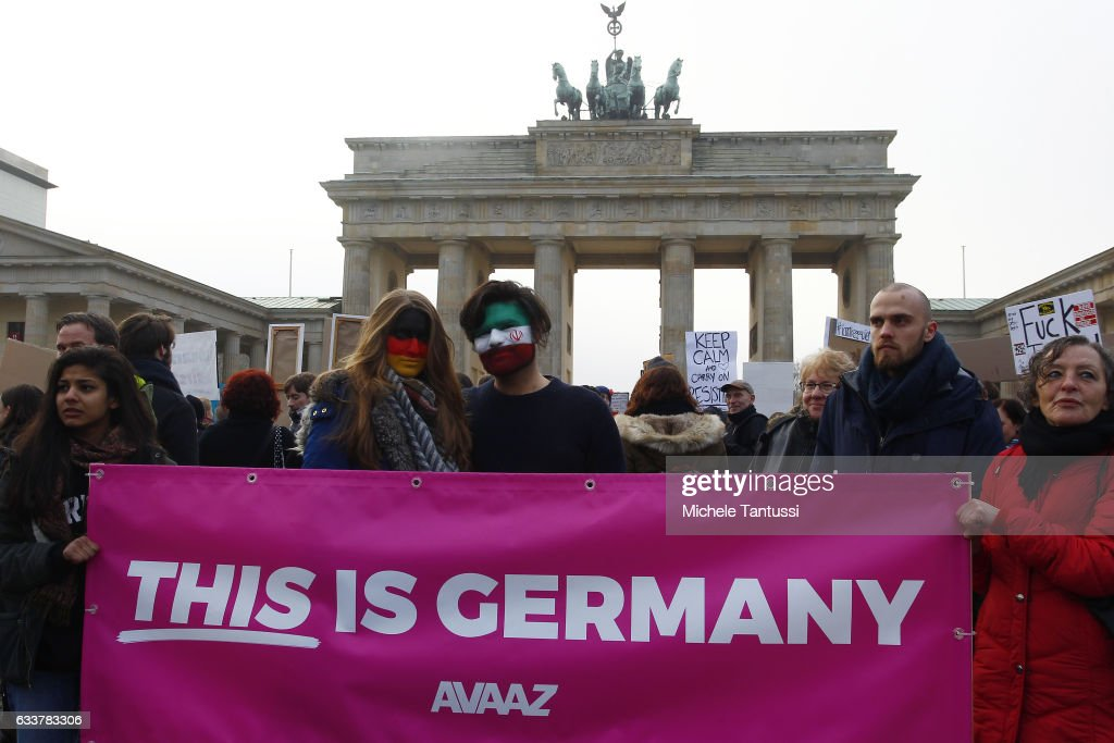 No Ban No Wall Berlin Protest : News Photo