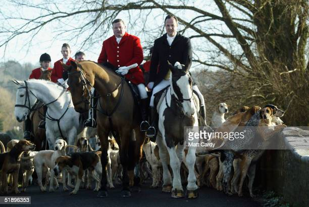 Members of the Avon Vale Hunt led by Hunt Master Jonathon Seed and Conservative MP James Gray gather for their traditional postChristmas meet...