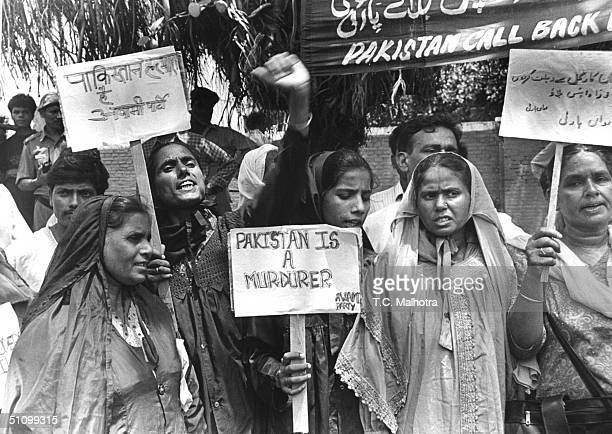 Members Of The Awami Party Demonstrate In New Delhi June 161999 To Protest Islamic Infiltrators Fighting With The Indian Military In Indian Kashmir