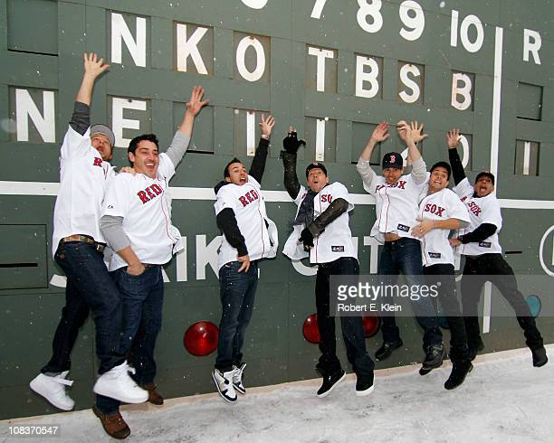 Members of the Backstreet Boys and the New Kids on the Block Brian Littrell Jonathan Knight Howie Dorough Donnie Wahlberg Jordan Knight Joey McIntyre...