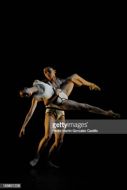 Members of the ballet troupe of Beijing Dance Theater company of China perform during the 40th edition of the Cervantino International Theatre...