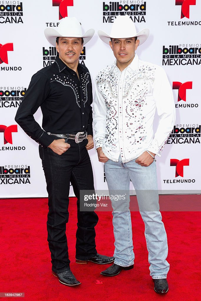Members of the band 8 Segundos attend the 2013 Billboard Mexican Music Awards arrivals at Dolby Theatre on October 9, 2013 in Hollywood, California.