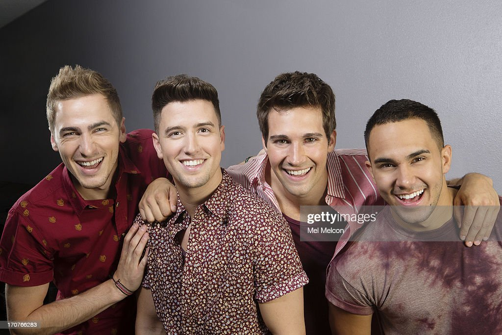 Members of the band Big Time Rush Logan Henderson, James Maslow, Kendall Schmidt, Carlos Pena Jr. are photographed for Los Angeles Times on June 15, 2013 in Burbank, California. PUBLISHED IMAGE.