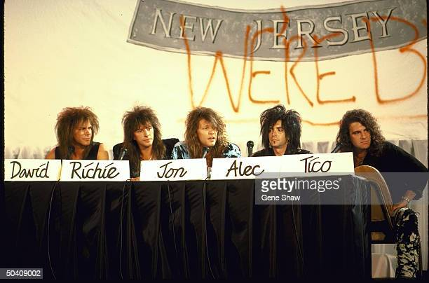 David Bryan Richie Sambora Jon Bon Jovi Alec John Such Tico Torres