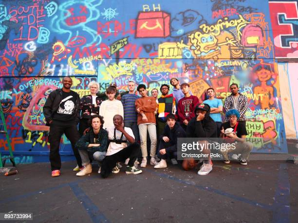 Members of the band BROCKHAMPTON during BROCKHAMPTON and Spotify host an event for their biggest fans to celebrate the launch of their new album...
