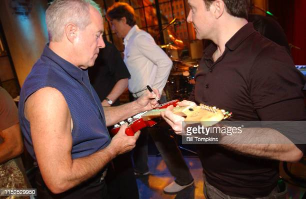 Members of the band Chicago sign guitars and posters on the TV show PRIVATE SESSIONS on June 29 2008 in New York City
