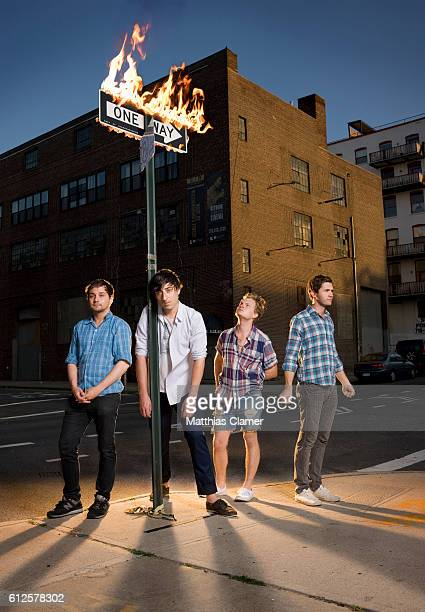 Members of the band Grizzly Bear Daniel Rossen Ed Droste Chris Taylor and Christopher Bear