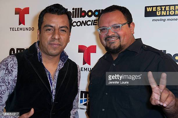 Members of the band La Santa Cecilia attend a performance by Calibre 50 and Banda Singer Keila Ponce at The Conga Room at LA Live on October 8 2013...