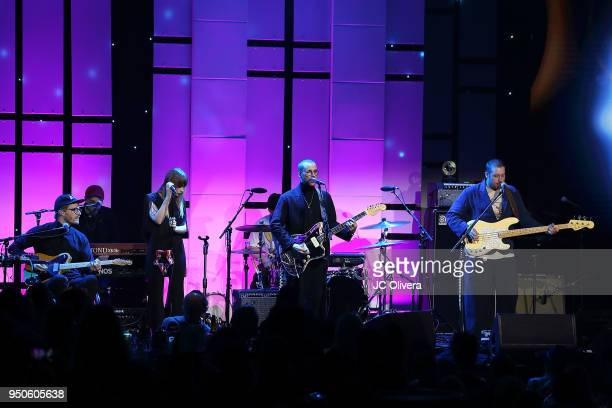 Members of the band 'Portugal The Man' perform onstage during the 2018 ASCAP Pop Music Awards on April 23 2018 in Beverly Hills California