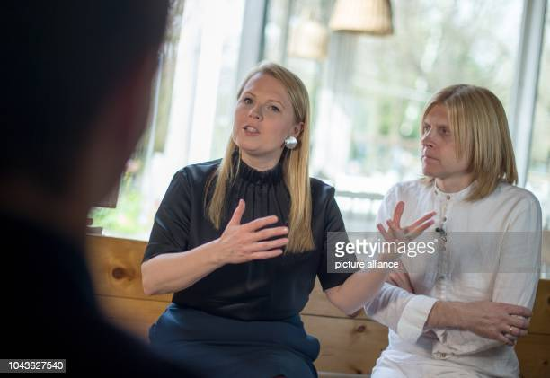 Members of the band 'The Kelly Family' Patricia Kelly and John Michael Kelly speak during an interview with German news agency Deutsche PresseAgentur...