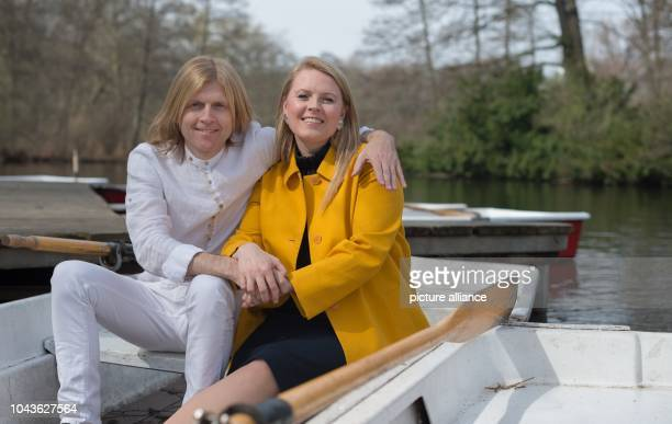Members of the band 'The Kelly Family' Patricia Kelly and John Michael Kelly pose at an interview with German news agency Deutsche PresseAgentur in...