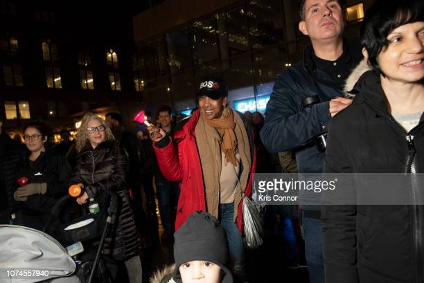 Members of the band Tilted Axes perform during 'Bell by Bell' as part of Make Music Winter on December 21 2018 in New York City