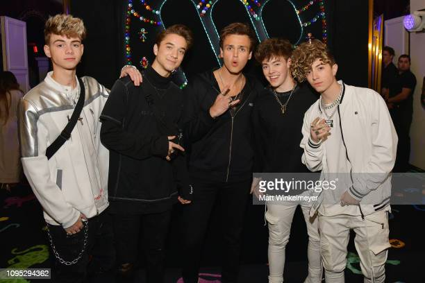 Members of the band Why Don't We attend the Warner Music PreGrammy Party at the NoMad Hotel on February 7 2019 in Los Angeles California