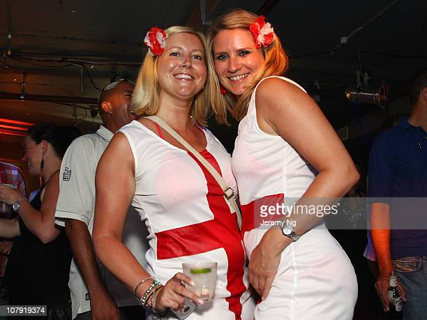 Members of the Barmy Army celebrate after England's Ashes win at the Retro in the early hours of the morning on January 8, 2011 in Sydney, Australia....