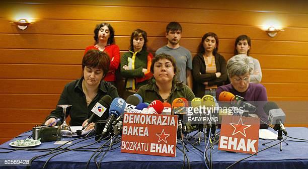 Members of the Basque political party Euskal Herrialdetako Alderdi Komunista EHAKPCTV and candidates for the 17 April 2005 Basque regional elections...