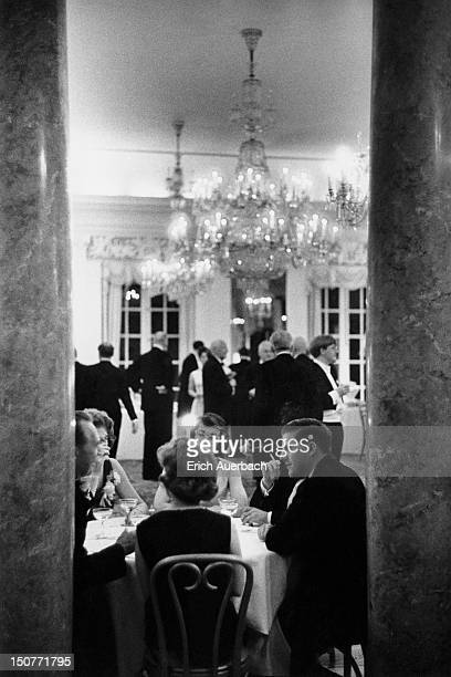 Members of the BBC Symphony Orchestra being entertained at the British Embassy in Washington, DC, 9th May 1965.
