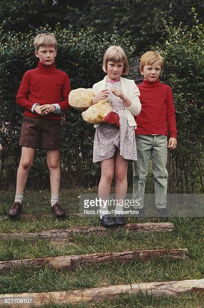 Members of the Belgium Royal family from left Prince Philippe Princess Astrid and Prince Laurent pictured together in a garden in Belgium on 18th...
