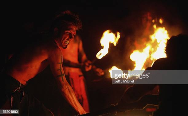 Members of the Beltane Society are seen celebrating the coming of Summer on Calton Hill on April 30 2006 in Edinburgh ScotlandThe procession is a...
