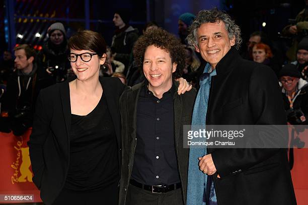Members of the Best First Feature Award Jury Director Ursula MeierProducer Michel Franco and Actor Enrico Lo Verso attend the 'Genius' premiere...