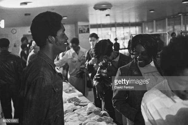 Members of the Black Panther Party distribute free clothing to the public New Haven Connecticut September 28 1969