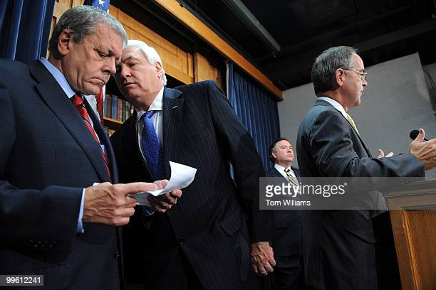 Members of the Blue Dog Coalition from left Reps John Tanner DTenn Allen Boyd DFla Dennis Cardoza DCalif and Jim Cooper RTenn conduct a news...
